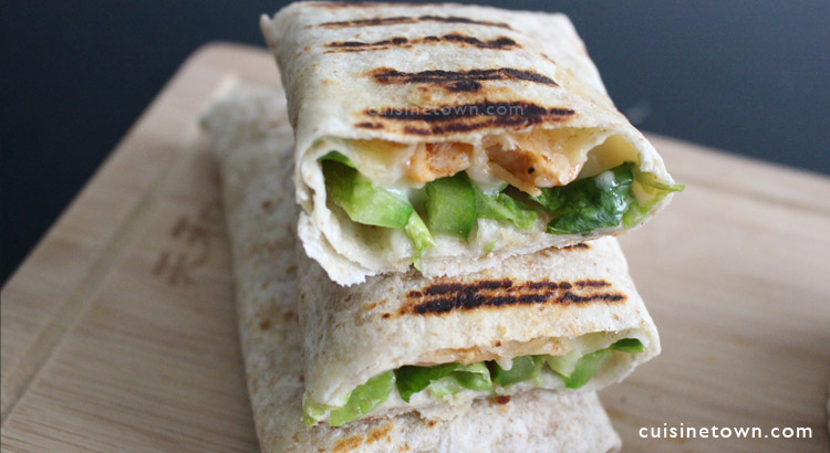 Easy Grilled Chicken Wraps