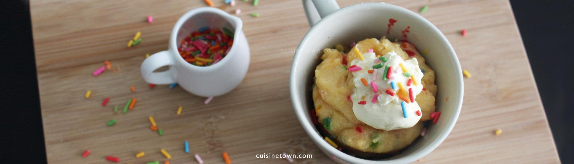 Rainbow Mug Cake